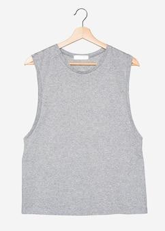 Camisa gris musculosa moda streetwear