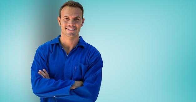 Camisa sonriente habilidad ocupación gesto
