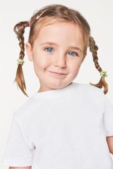 Camiseta casual blanca niña