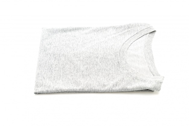 Camiseta doblada en blanco