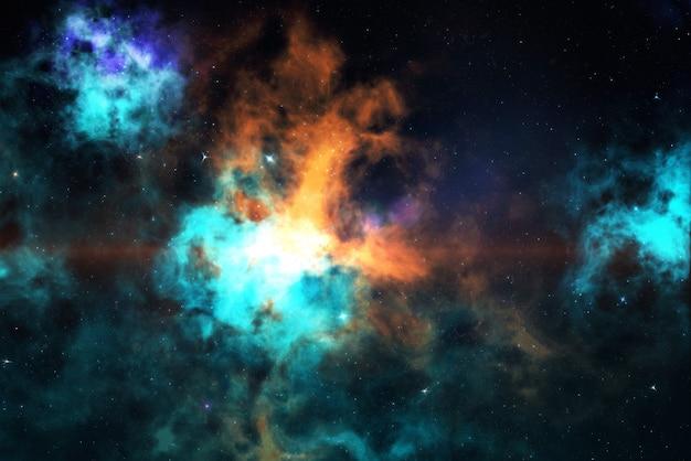 Campo de estrellas de alta definición, espacio colorido cielo nocturno. nebulosa y galaxias en el espacio. fondo del concepto de astronomía.