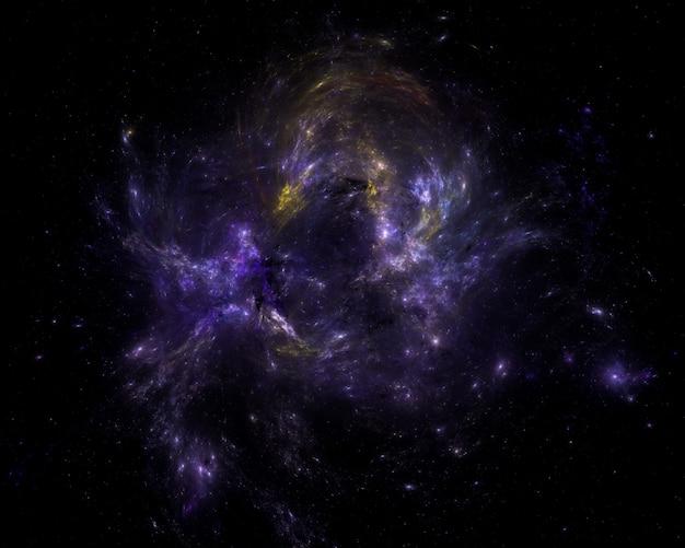 Campo de estrellas de fondo. espacio exterior estrellado