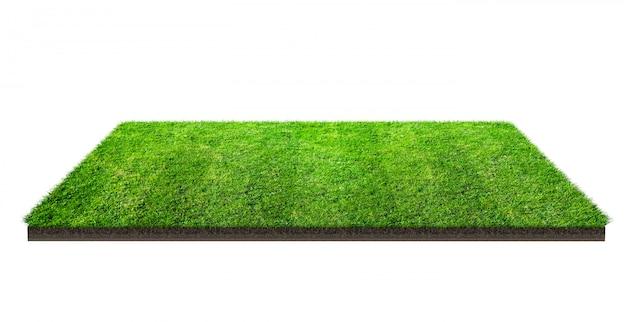 Campo de hierba verde aislado con el camino de recortes. campo de deportes. juegos de equipo de verano.