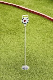 Campo de juego mini golf hoyo 6