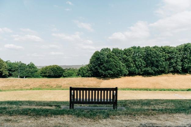 Campo de pradera de otoño en un parque