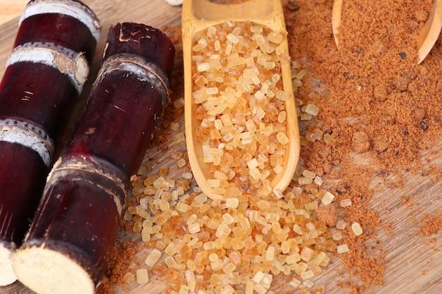 Caña de azúcar ecológica con melaza.