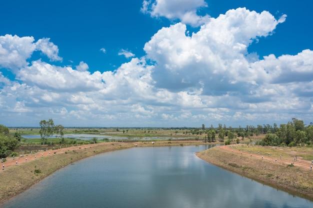 Canal de agua, entrega de recursos hídricos