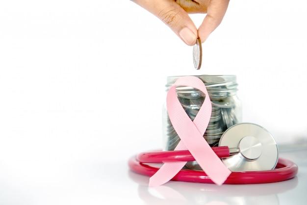 Cáncer de mama seguro médico y ahorro de dinero.