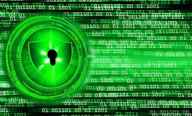 Candado cerrado en seguridad cibernética de fondo digital Foto Premium