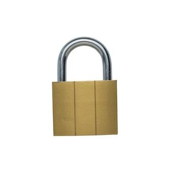 Candado de metal clásico aislado. el concepto de protección y seguridad.