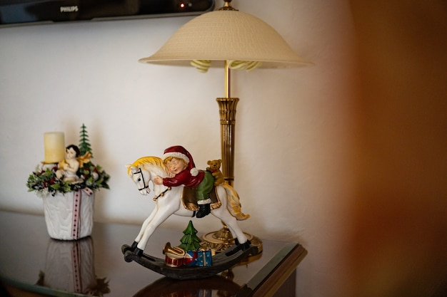 Candelabro de decoración de interiores con velas, mesa de arreglo artesanal mini decoración para año nuevo, árbol de navidad artificial