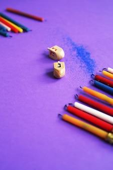Candelas coloridas, hanukkah