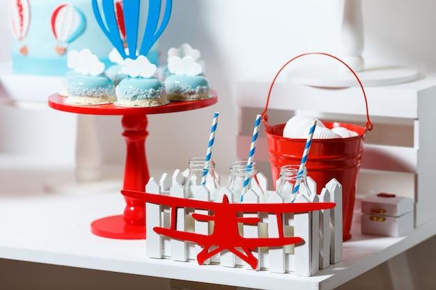 Candy bar en la fiesta de cumpleaños del niño