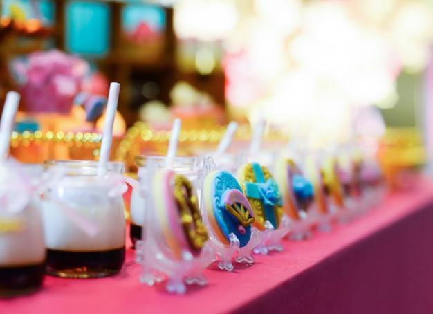 Candy bar en el restaurante