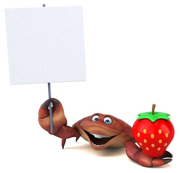 Cangrejo divertido - ilustración 3d