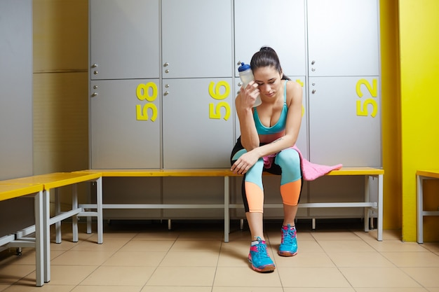 Cansado después del entrenamiento