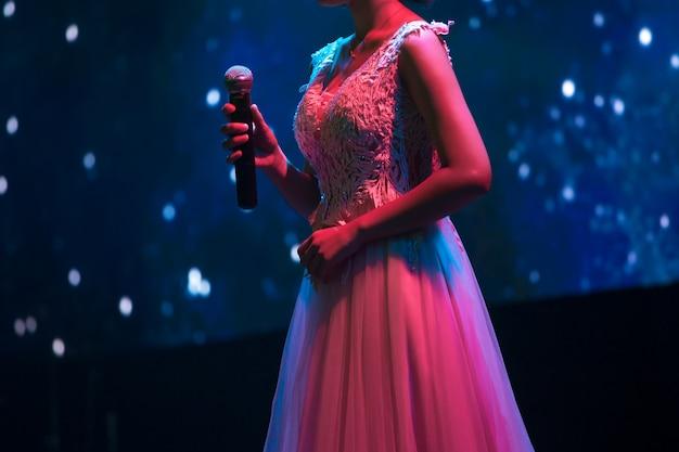 Cantante en el fondo del escenario