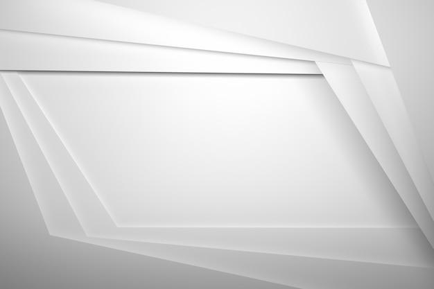Capas de hojas blancas con bordes sombreados y copia espacio en blanco para presentación en el centro
