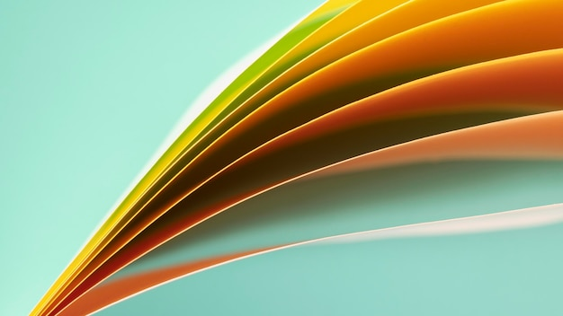 Capas de papeles de color naranja