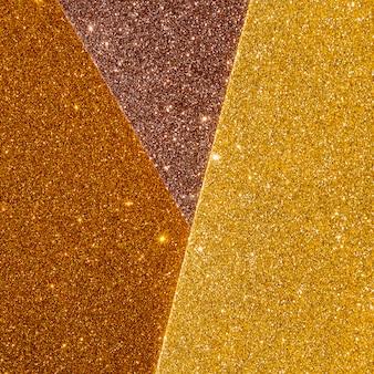 Capas de textura dorada brillante degradada