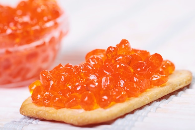 Capelin sushi caviar - masago orange. caviar de trucha ahumado o caviar de salmón kosher