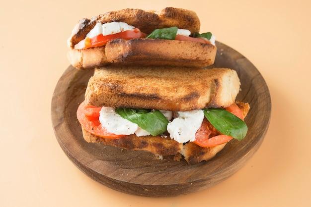 Caprese panini sandwich sandwich saludable