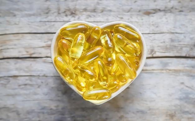 Cápsulas de omega 3.