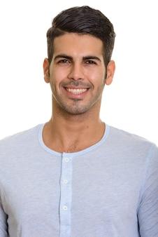 Cara de joven persa feliz sonriendo