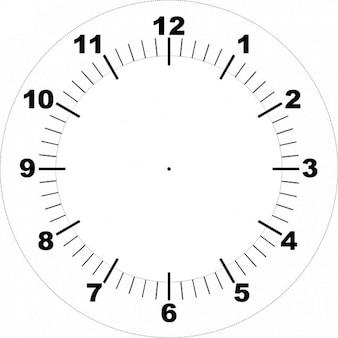 Cara de reloj imprimible