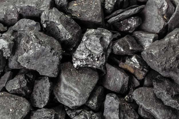 Carbón mineral piedra cubo negro