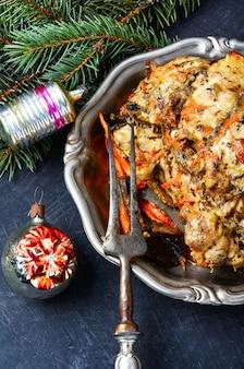 Carne al horno de navidad