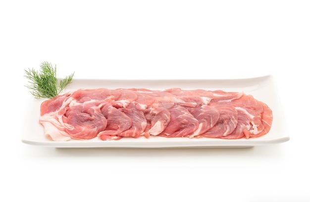 Carne de cerdo fresca en rodajas