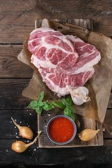 Carne cruda carne de cerdo