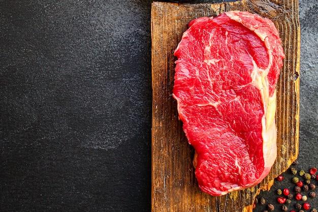 Carne cruda de carne de res o ternera