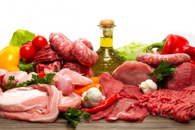 Carne cruda fresca