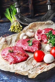 Carne fresca de carne casera