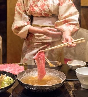 Carne de res matsusaka shabu