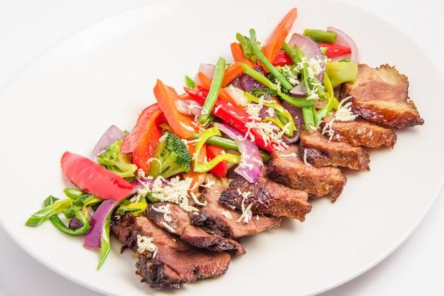 Carne con verduras