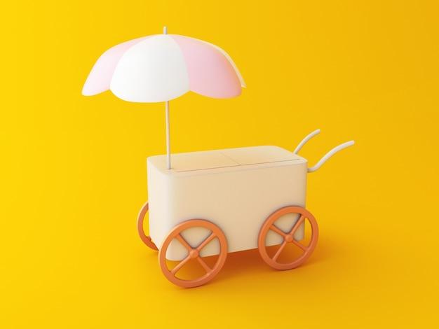 Carro de comida 3d.
