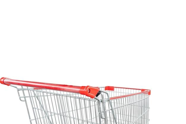 Carro de compras aislado sobre fondo blanco.