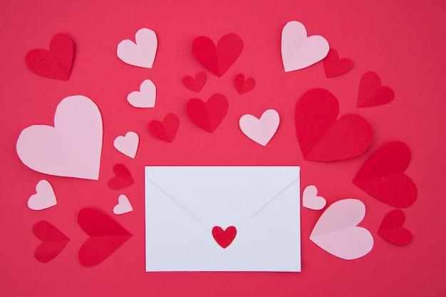 Carta de amor - concepto de san valentín