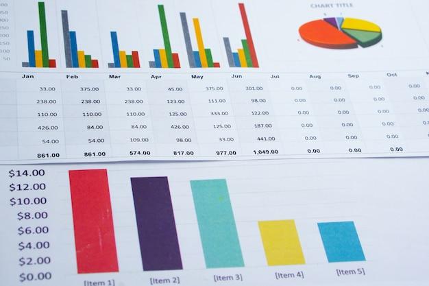 Carta de papel cuadriculado. financiero, cuenta, estadística, investigación analítica, economía de datos.