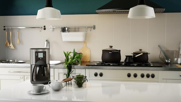 Cartel interior cocina moderna