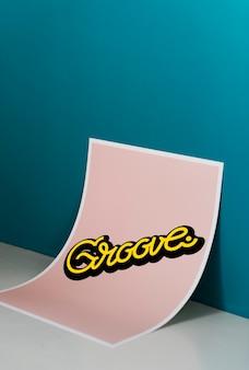 Cartel de letras a mano mínima con cita de groove