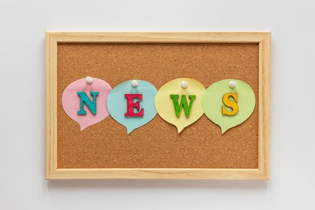 Cartelera con noticias falsas