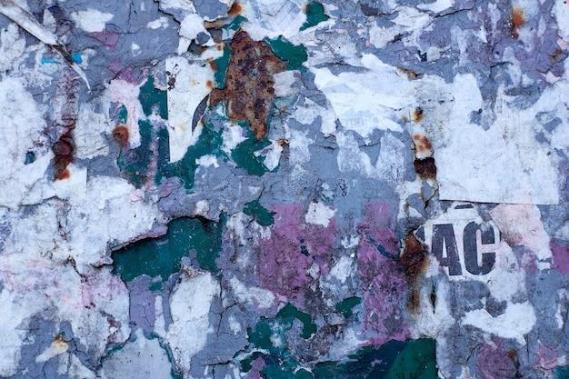Carteles antiguos. carteles rotos. papel rasgado