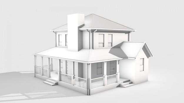 Casa 3d render