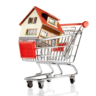 Casa en carrito de compras