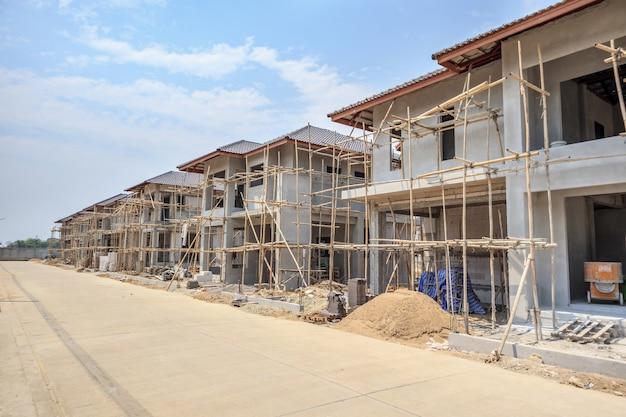 Casa en construcción en obra