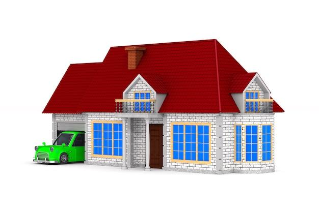 Casa en espacio en blanco